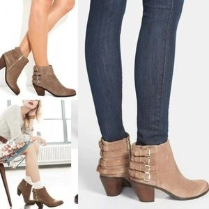 ⚡🔥Sam Edelman (see pics) putty suede ankle bootie